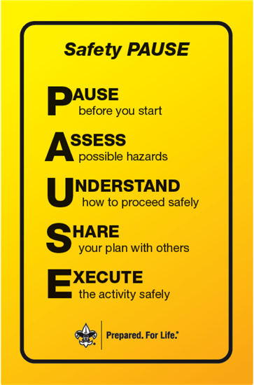 Safety PAUSE graphic