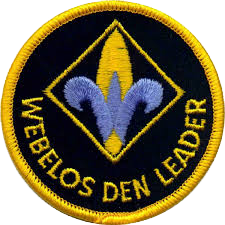 Webelos Den Leader patch