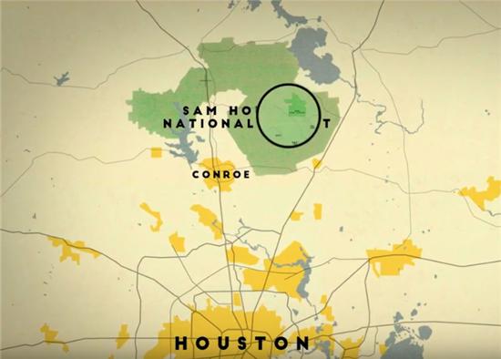 Camp Strake regional map