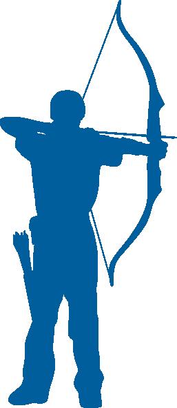 action logo shooting archery