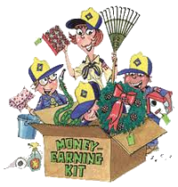 Money Earning Kit cartoon